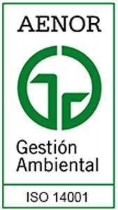Certificado Medio Ambiental ISO 14001.