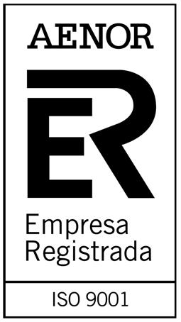 Certificado de Calidad ISO 9001.